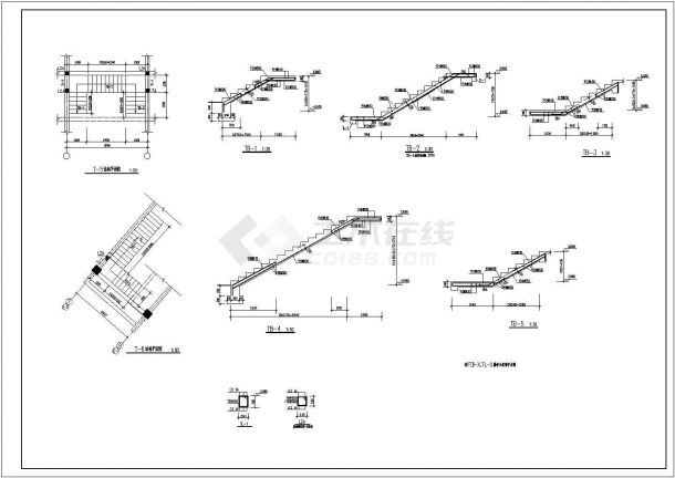 某主体四层局部五层框架结构商业楼设计cad全套结构施工图(含设计说明)-图一