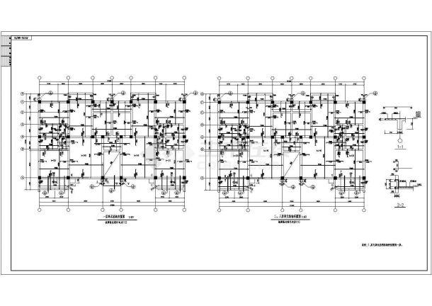 某生态园区多层框架结构办公楼设计cad全套结构施工图-图一