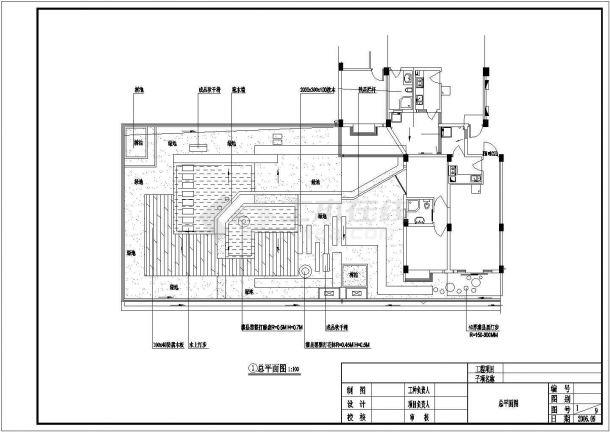 某住宅楼屋顶花园工程设计cad全套施工图纸-图二