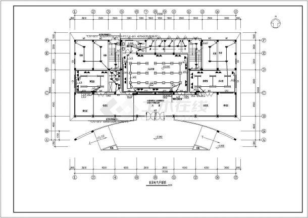 九龙道路站配电设计cad全套电气施工图( 含设计说明)-图二