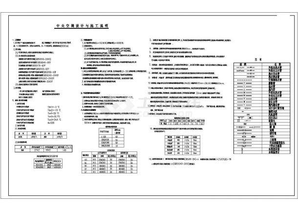 某多层综合办公楼空调设计cad全套施工图(含设计说明,含采暖设计)-图一