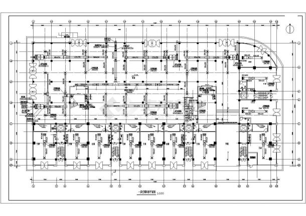 某多层综合办公楼空调设计cad全套施工图(含设计说明,含采暖设计)-图二