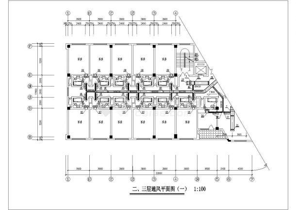 商业综合楼空调通风及防排烟系统全套设计施工图(风冷热泵机组)-图一