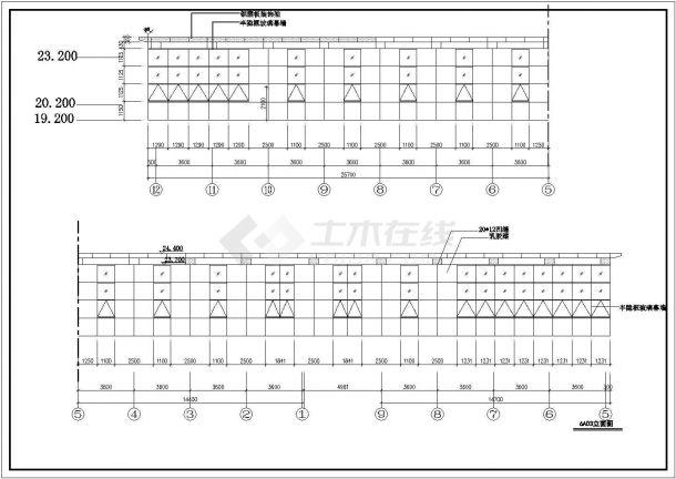 上海某高档住宅楼屋顶花园设计cad全套施工图-图一
