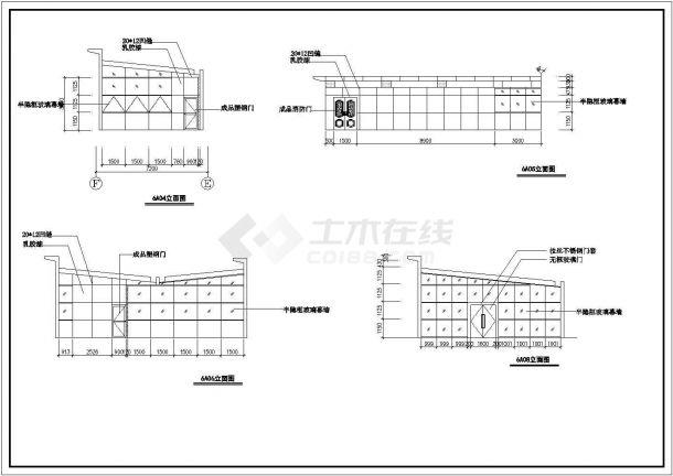 上海某高档住宅楼屋顶花园设计cad全套施工图-图二