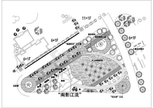 某高档住宅屋顶花园景观设计cad施工详图-图二
