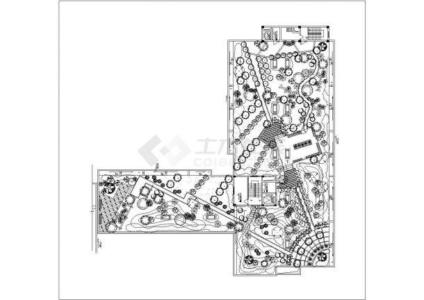 某高层住宅楼屋顶花园景观设计cad施工详图-图一