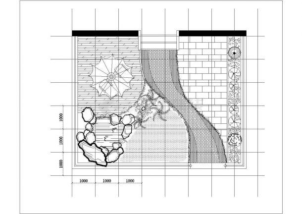 江南春城小区某住宅楼屋顶花园景观设计cad详细施工图纸-图一