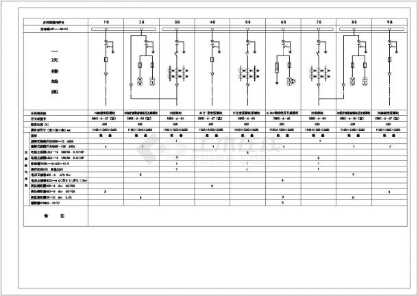 某大型高压变电所设计cad详细电气施工图-图一