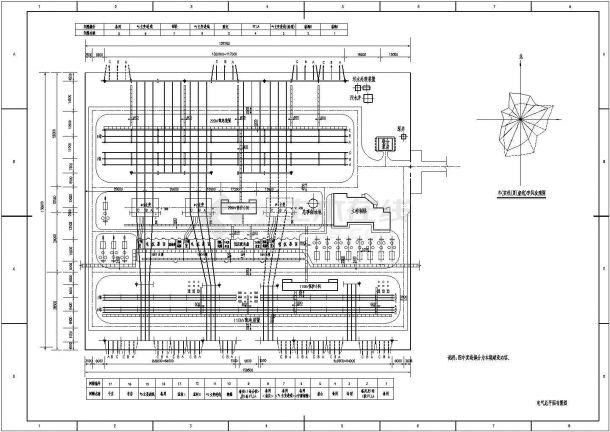 某高压变电所设计cad详细电气施工图纸-图二
