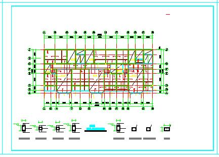 多层底框结构商住楼cad设计施工图-图二