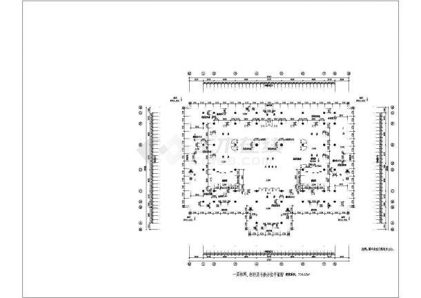 藏经楼古建筑cad图纸设计-图二