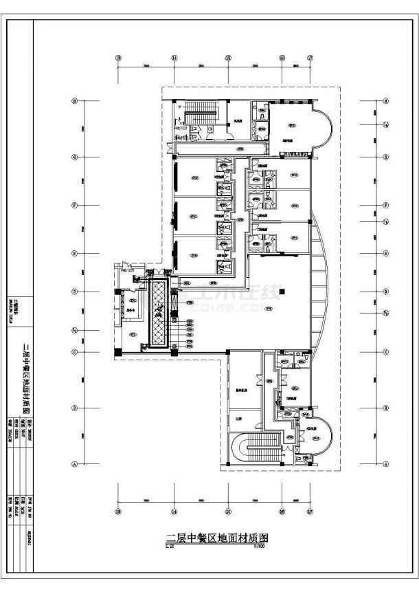某建筑面积1000平米中餐厅室内装饰设计cad详细竣工图(含设计说明)-图二