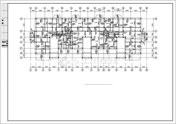 重庆市某家属院5岑钢筋混凝土结构住宅楼全套结构设计CAD图纸-图一