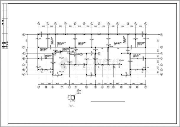 重庆市某家属院5岑钢筋混凝土结构住宅楼全套结构设计CAD图纸-图二