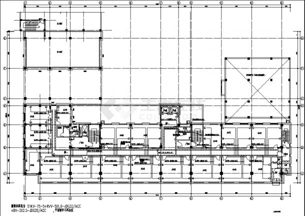 8层肿瘤医院改建接建工程弱电系统设计施工cad图纸(含说明)-图二