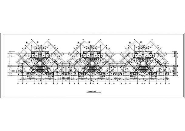 某剪力墙结构高层住宅楼设计cad标准层平面图-图一