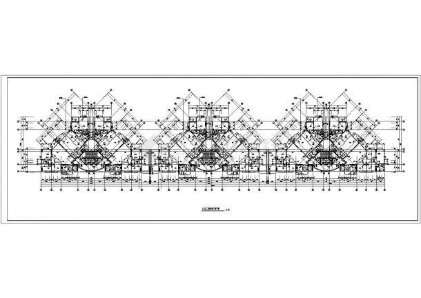某剪力墙结构高层住宅楼设计cad标准层平面图-图二