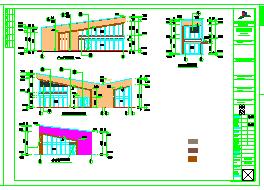164平一层框架结构商业楼建筑结构cad设计施工图-图一