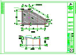 164平一层框架结构商业楼建筑结构cad设计施工图-图二