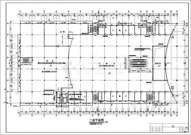 龙归商贸城商铺全套装修施工设计cad图纸(含总平面图,设计说明)-图一