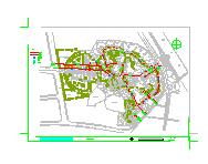 新昌鼓山公园景观设计CAD施工图纸-图一