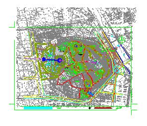 新昌鼓山公园景观设计CAD施工图纸-图二