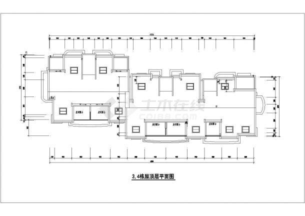 京润国际花园小区某多层框架结构住宅楼设计cad建筑方案图-图一