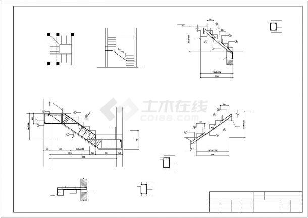 某两层砖混结构农村自建房结构设计施工CAD图纸-图一