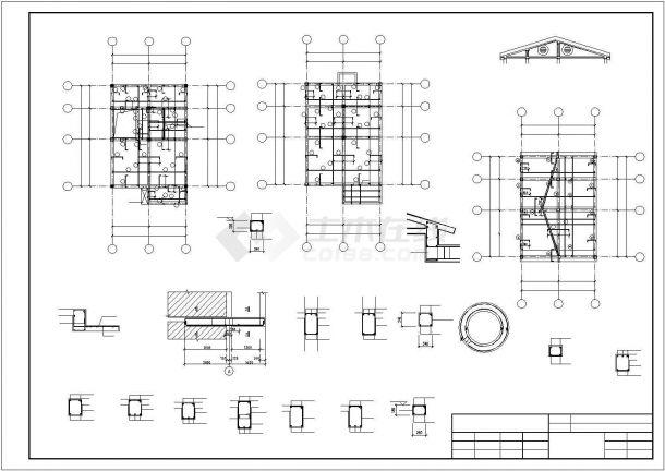 某两层砖混结构农村自建房结构设计施工CAD图纸-图二