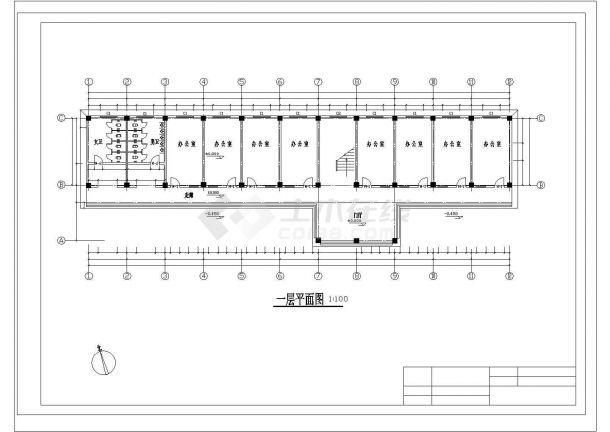 5层2000平米左右框架高中教学楼毕业设计图纸-图一