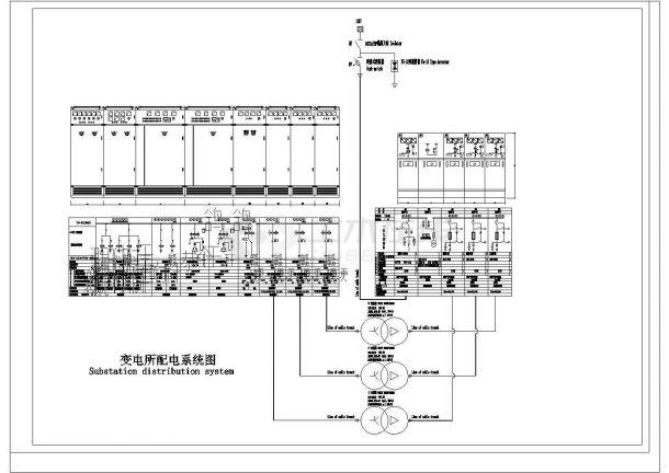 某工业园变配电中心配电设计cad电气施工图-图二