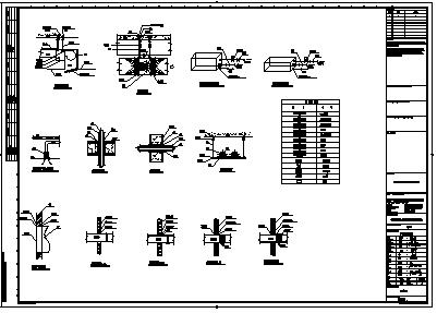 暖通安装设计_某三层厂房暖通安装大样设计cad图纸-图二
