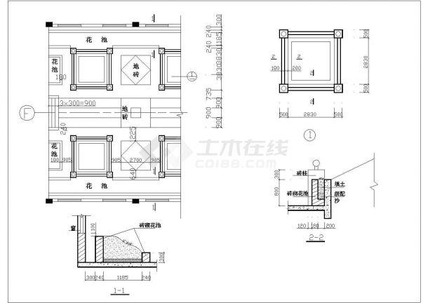 某高级办公楼屋顶花园绿化设计cad详细施工图-图二