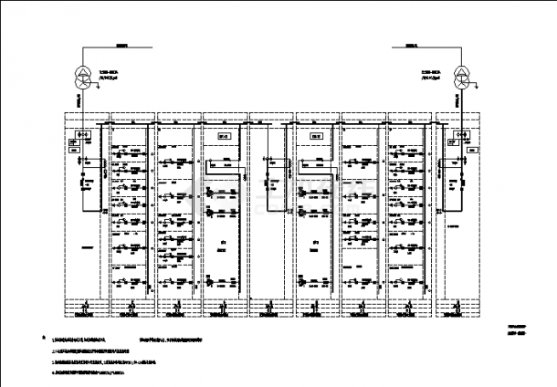河北某医院综合楼配电系统设计施工cad图纸-图一