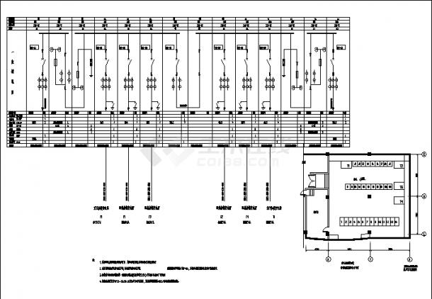 河北某医院综合楼配电系统设计施工cad图纸-图二