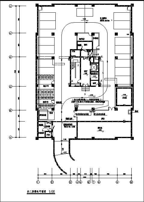 江西某二类高层商住楼弱电系统设计施工cad图纸-图一