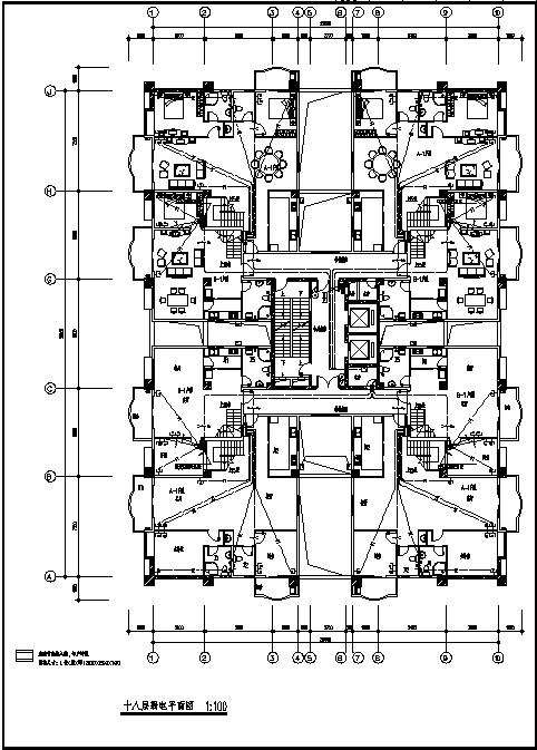 江西某二类高层商住楼弱电系统设计施工cad图纸-图二