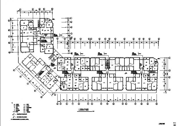 成都某住宅小区电气弱电系统设计施工cad图纸-图一