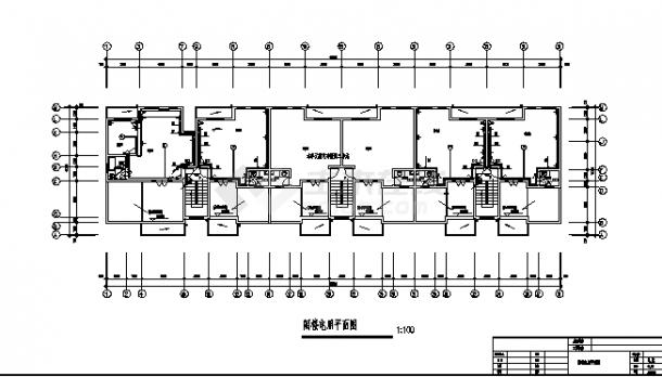 花亭小区住宅楼弱电系统设计施工cad图纸-图一