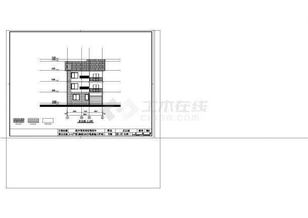 杭州市某村钢筋混凝土结构自建住宅楼建筑及结构工程设计全套cad图(含建筑及结构设计说明)-图一