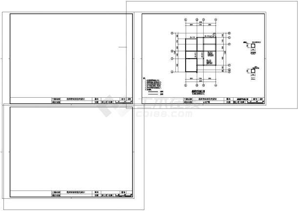杭州市某村钢筋混凝土结构自建住宅楼建筑及结构工程设计全套cad图(含建筑及结构设计说明)-图二
