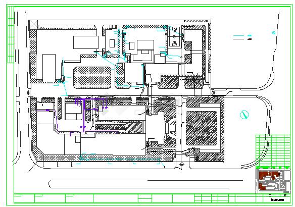[宁波]某电子厂厂房给排水消防设计cad竣工图-图二