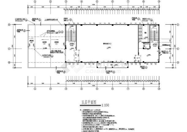淮安小学多功能教学楼建筑施工cad图,共十一张-图二