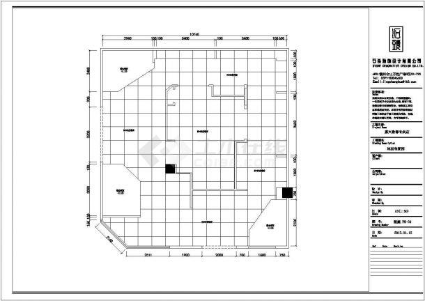 某整体衣柜专卖店现代风格室内装修设计cad详细施工图-图一