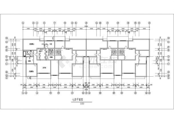 碧海花园小区某多层框架结构住宅楼设计cad建筑方案图-图一