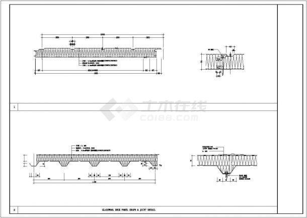 某彩钢板工业厂房设计cad施工大样图-图二