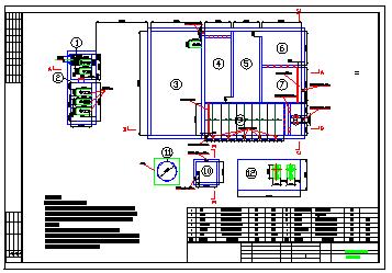 某生活污水處理站全套cad施工設計圖紙-圖一