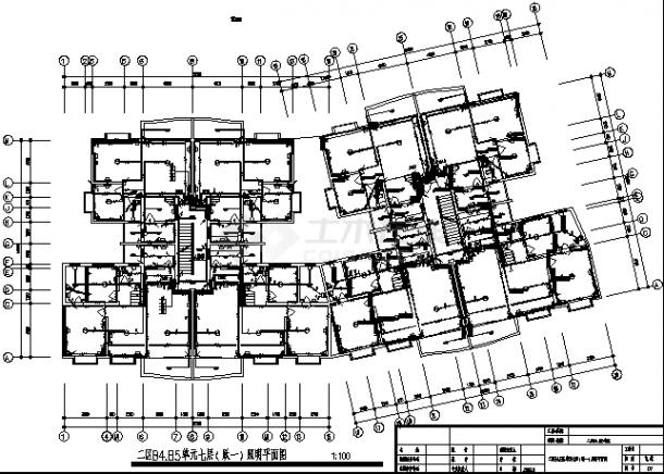 石家庄某多层住宅强弱电系统设计施工cad图纸-图二