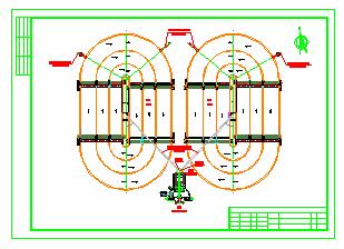 天津市某污水处理厂工艺cad设计图-图一